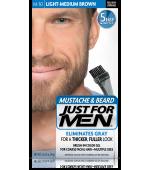 JUST FOR MEN - MUSTACHE & BEARD BRUSH-IN COLOUR GEL (Light Medium Brown) M30